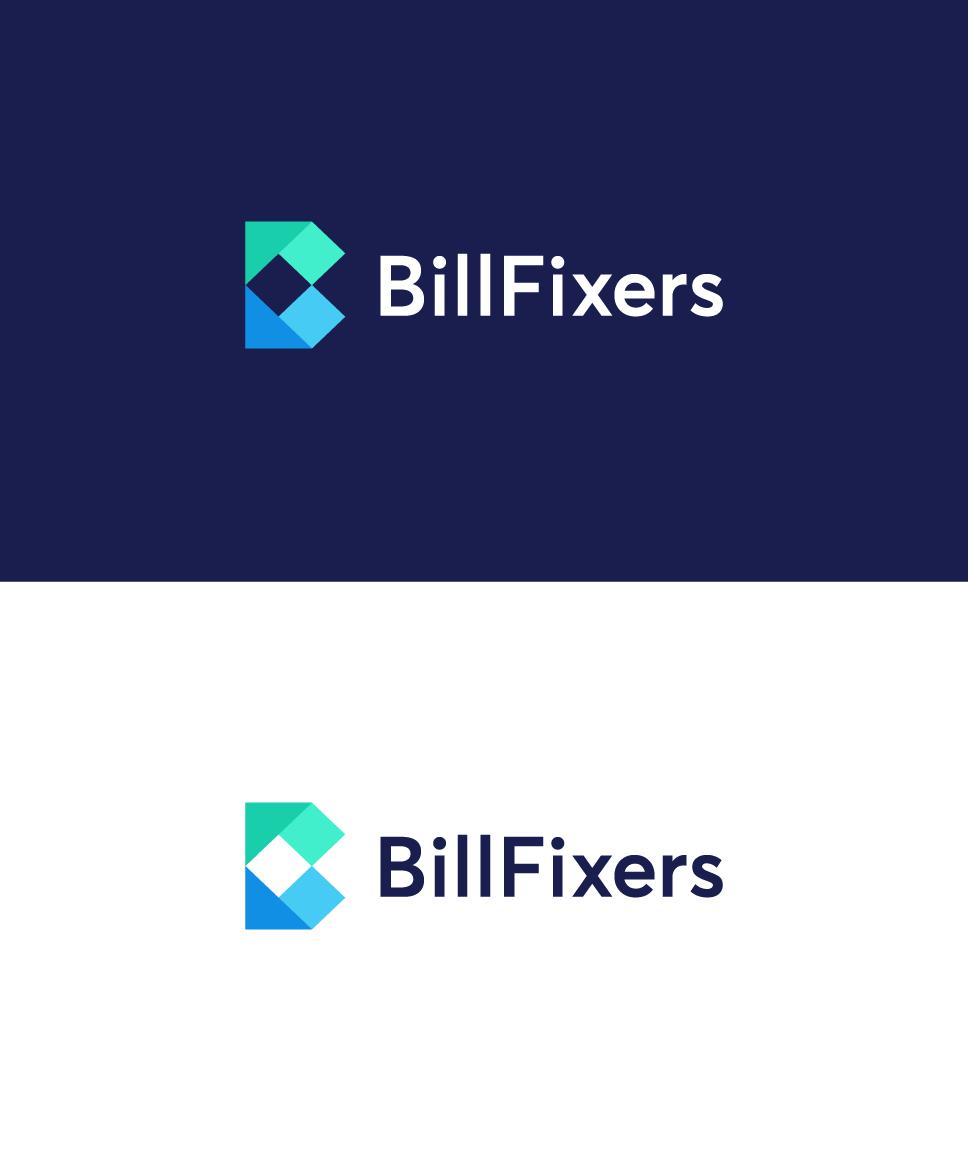 B flat logo design. B origami. Money logo, bill logo. Finance company logo