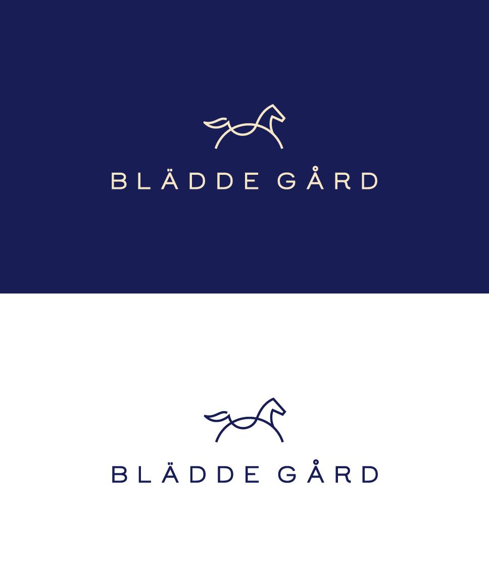line horse logo. Logo for a steed farm. Steed logo design
