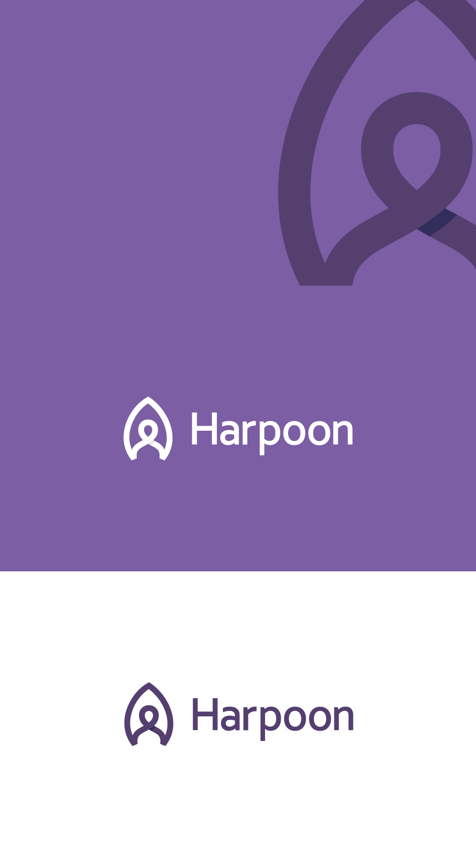 professional, clever logo design for harpoon. Harpoon image combined with human. Stands for a talent hunt, recruiting.