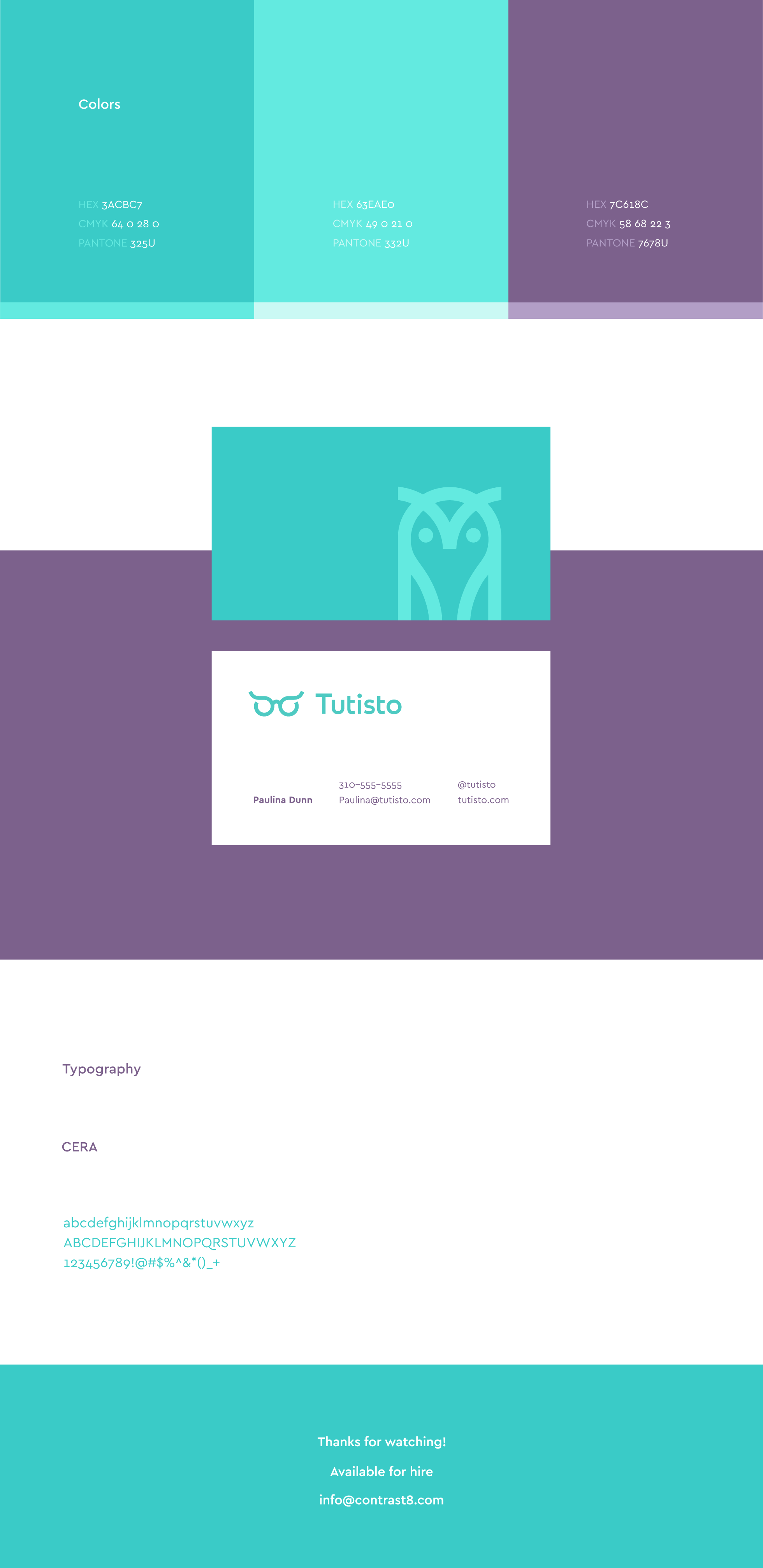 flat, creative and professional education logo. Combines two visuals. Owl and eyeglasses.