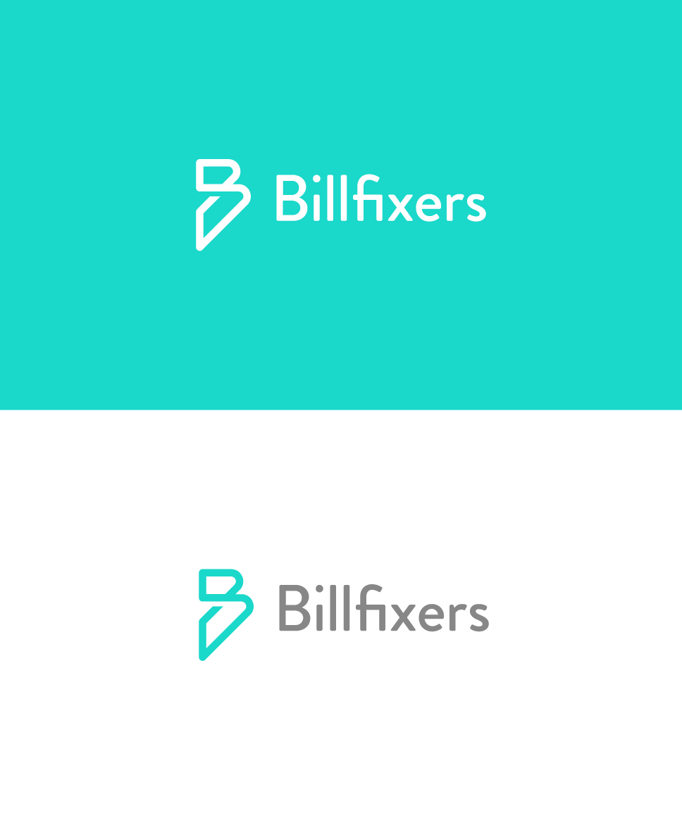 single line B logo for a financial company