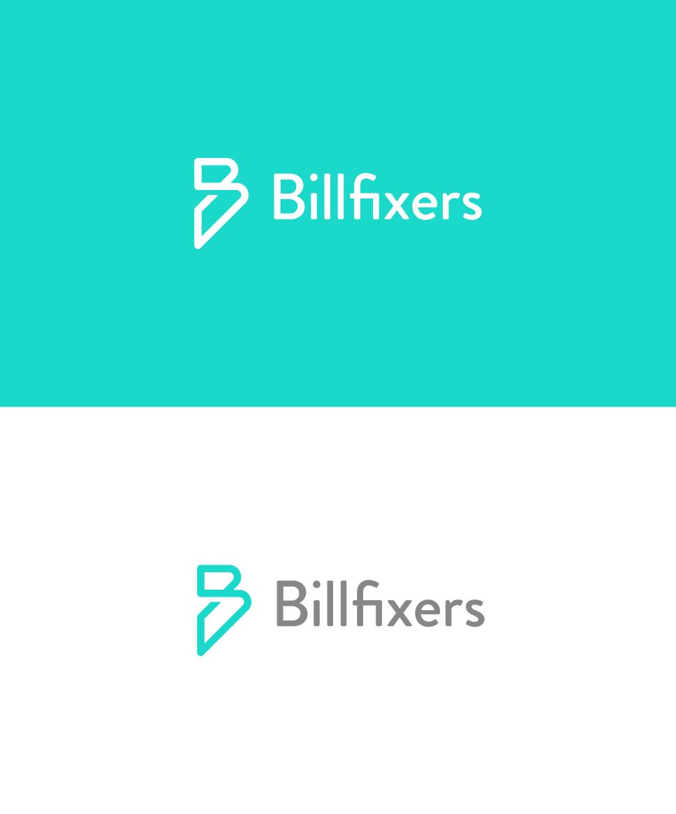 single line B logo for a financial company