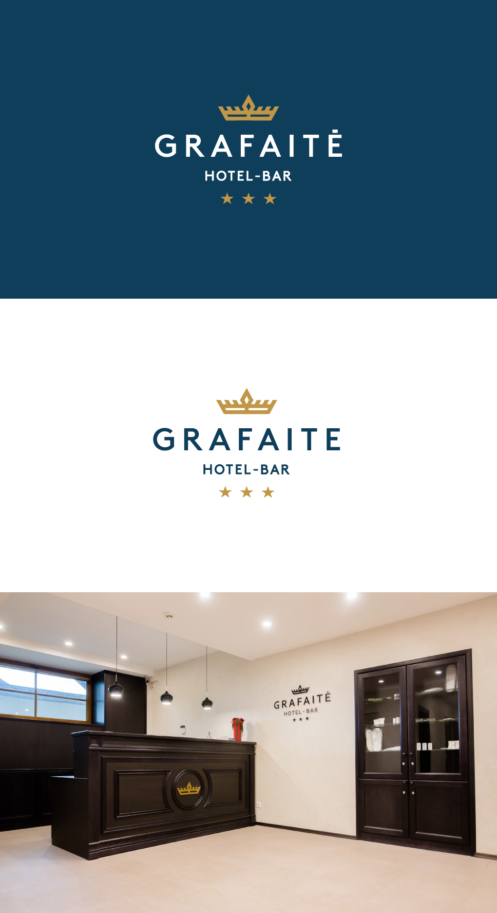 modern crown logo design for a hotel bar