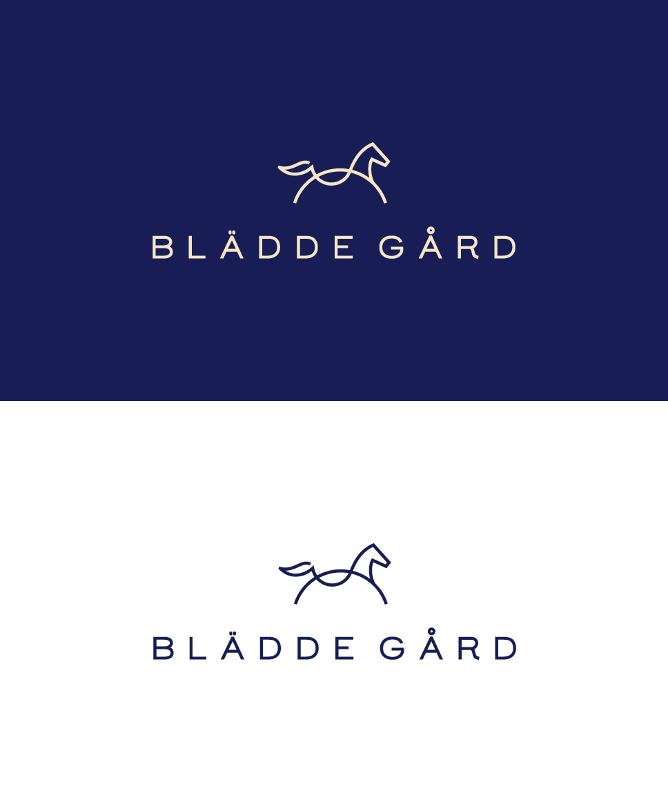 line horse logo. Logo for a steed farm. Steed logo design