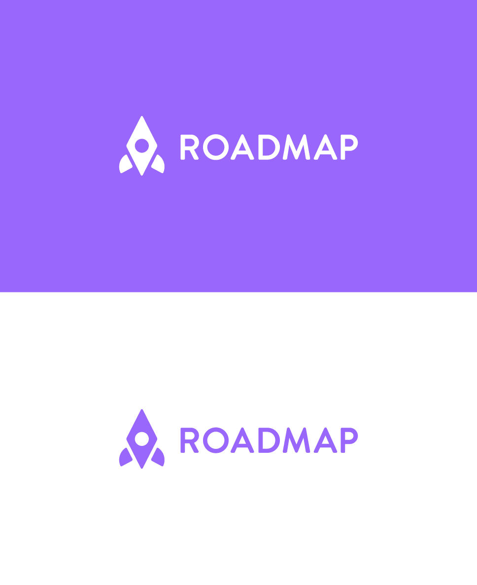 falt, minimalistic compass, rocket logo for product management tool